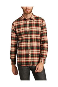 Rustic checked flannel shirt