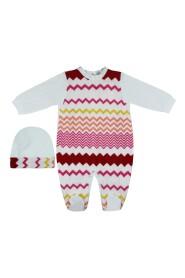 Set Neonata in jersey di cotone bambina con tutina e cappellino