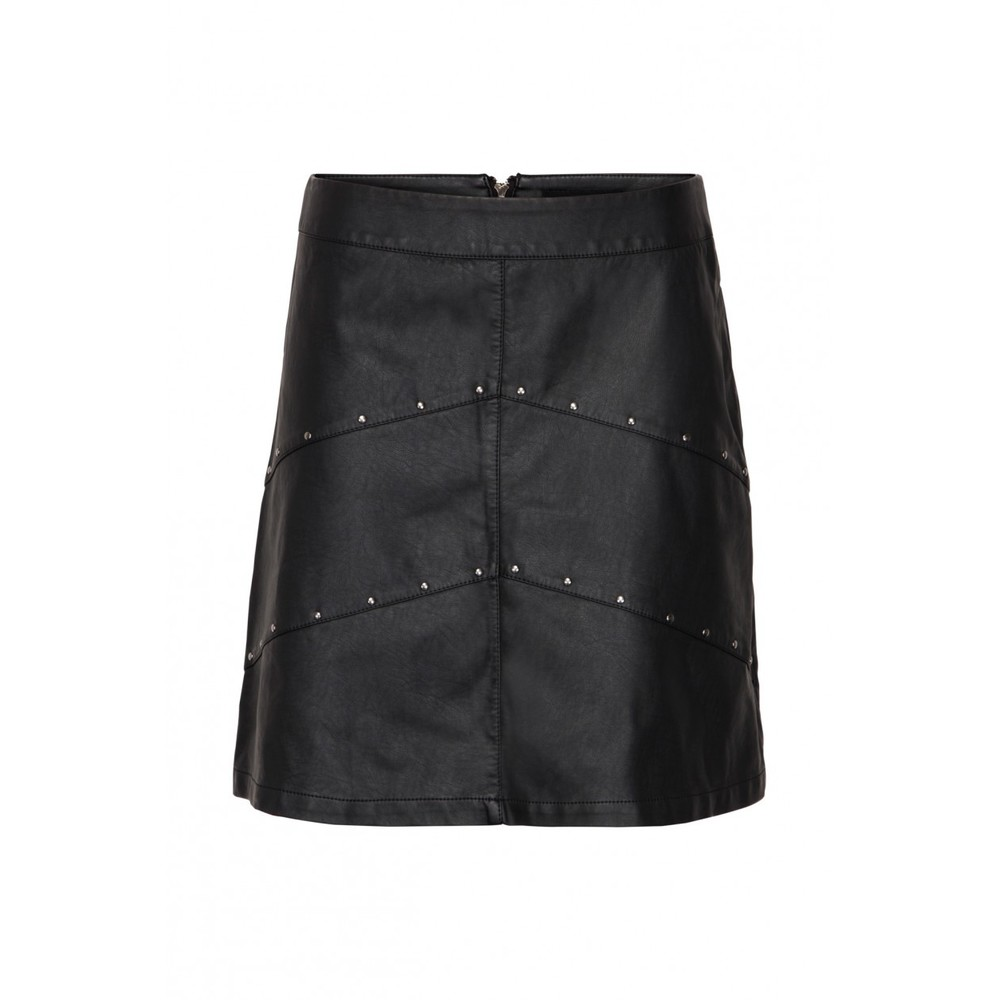 Sisters Point Black leather skirt