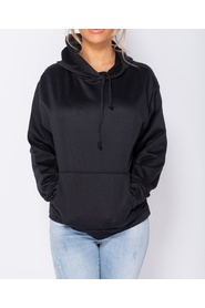 Oversized Draw String Hooded Sweatshirt