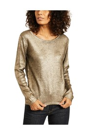 Wool and silk laminated sweater