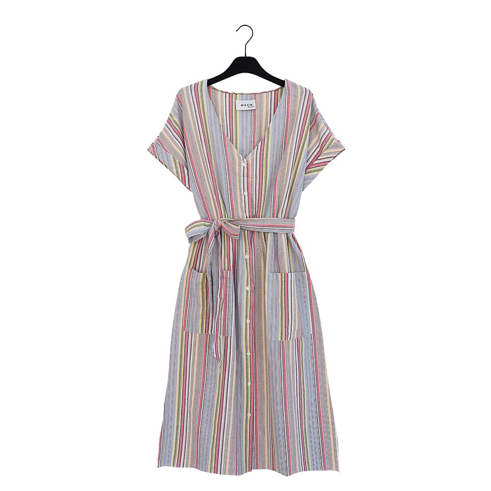 ROSA Striped Cotton Dress