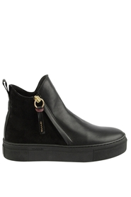 Marie Mid Zip Boot Suede Leather
