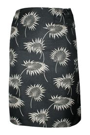 Pencil Skirt with Embroidered Flowers