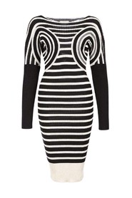 Striped Optical Illusion Dress
