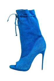 Perforated Suede Jennifer Wrap Boots
