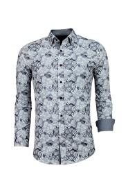 Exclusieve Heren Overhemd - Luxe Italiaanse Paisley Blouse