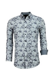 Exclusieve Overhemd - Luxe Italiaanse Paisley Blouse - 3021