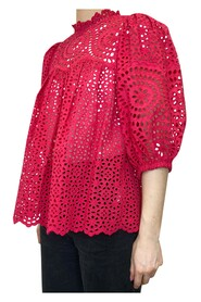 Broderie Anglaise Puff Sleeve Blouse
