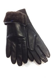 LEATHER GLOVES REAL MIRROR LAMP SHEET BLACK