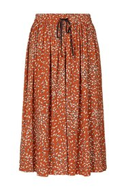 Jelina HW Midi Skirt - Mocha Bisque Feathers