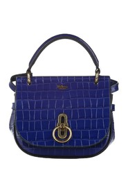 Croc Embossed Amberley Patent Leather Satchel