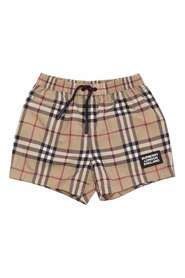 KAMERON Vintage Check nylon swim shorts