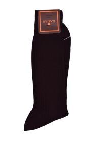 Twin Rib Pattern Cotton Long Socks