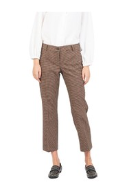 Micro-check trousers