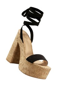 cork wedges to lace