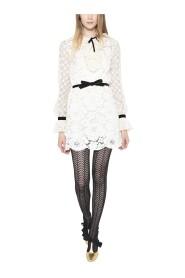 Lace cotton-blend dress