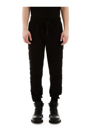 joggers with embossed logo