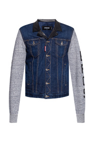Jacket with denim trims
