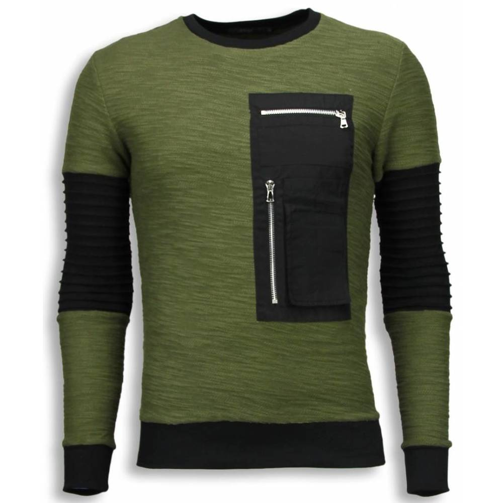 Ribbed Arm med Kevlar Pocket Sweater