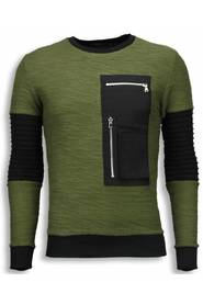 Ribbel Arm met Kevlar Pocket Sweater