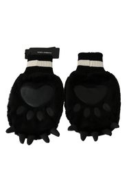 Paw Fur Knitted Elastic Wrist Band Gloves