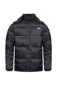 Quilted jacket with logo