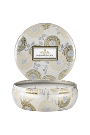 VOLUSPA - 3-wick Candle in Dec. Tin Nissho Soleil