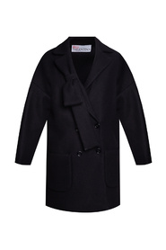 Coat with decorative bows