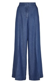 Blue Denim Second Female Lyle Hw Trousers Drops
