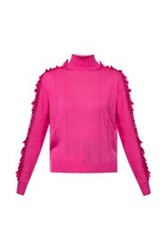 Turtleneck sweater with ruffles
