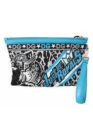 Tiger Wrist Strap Mens Hand Pouch Toiletry Bag