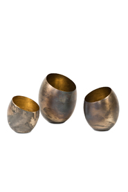 Set of 3 Candleholders - Silver