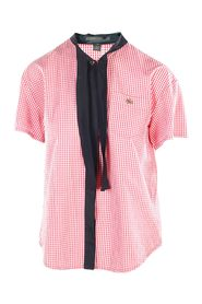 Bow - Accented Gingham Shirt