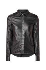Dita leather blouse