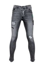 Skinny Jeans Men with Paint Splashes - A13A - Gray