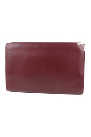 Must De Cartier Leather Clutch Bag