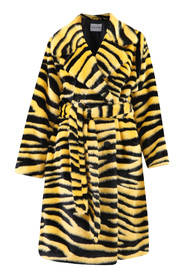 Animalier motif faux fur coat