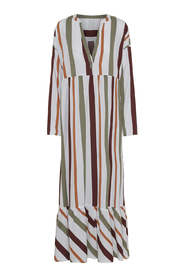 cara dress safari stripe