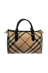 Pre-owned Supernova Check Coated Canvas and Patent Leather Boston Bag