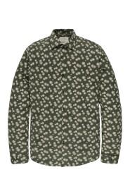 Long sleeve shirt print on structu duffle bag