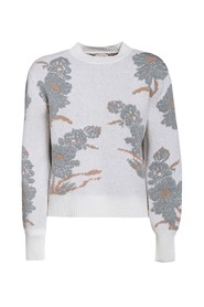 Jacquard crewneck sweater