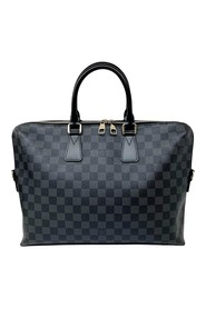 Damier Graphite Porte Documents Jour Canvas