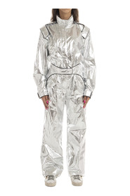 SILVER RACING LOOSE JUMPSUIT