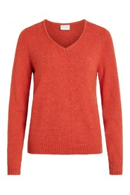 VIRIL L / S V-NECK KNIT TOP-NOOS