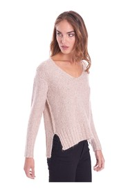 V-NECK SWEATER WITH SEQUINS