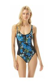 Swimsuit Bold Tropical Bliss Zip Front