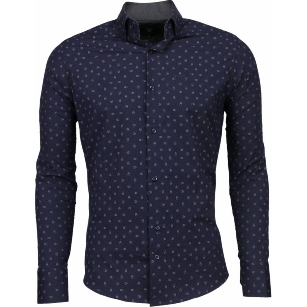 Slim Fit Shirt Skulls