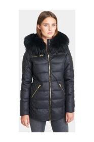 Eve vinterjakke med ægte sort pels