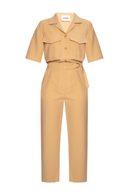 Jumpsuit with short sleeves